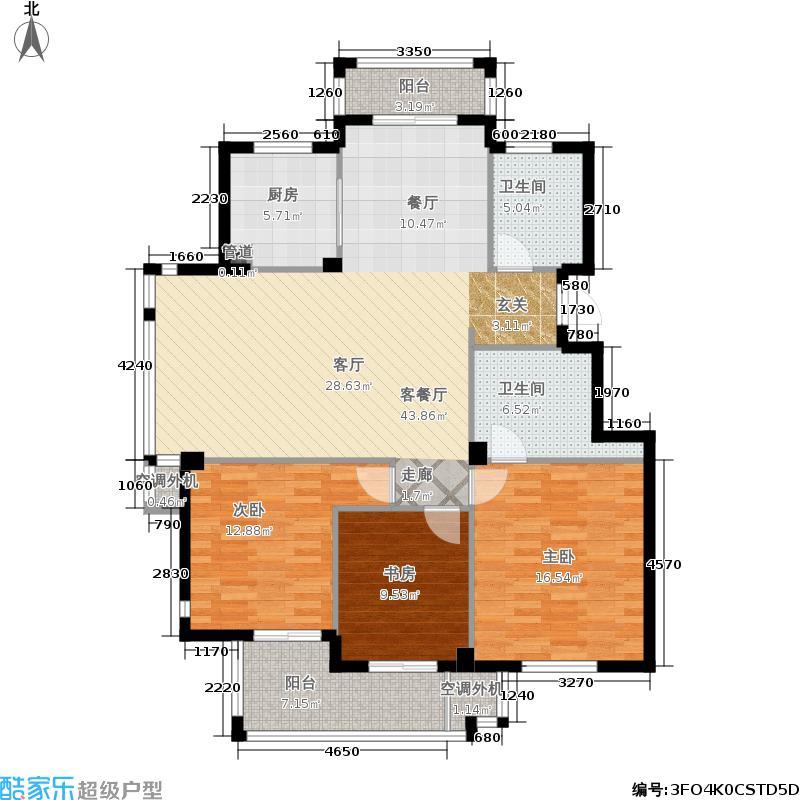 华润翠庭130.00㎡B02/03面积13000m户型