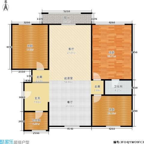 采荷人家3室0厅2卫0厨135.00㎡户型图