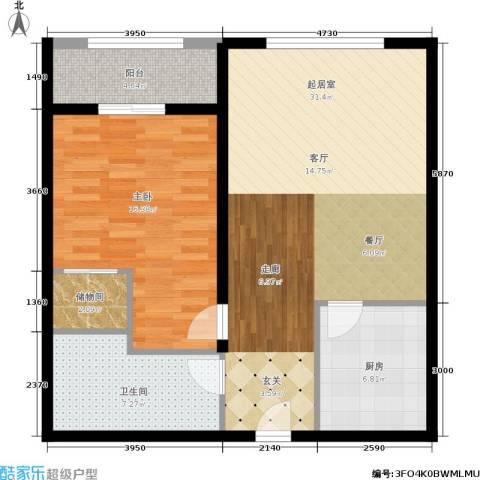 金沙居1室0厅1卫1厨77.00㎡户型图