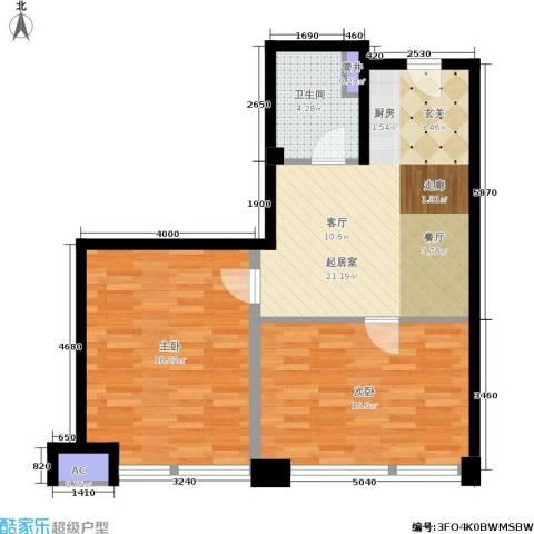 金沙居2室0厅1卫0厨68.00㎡户型图