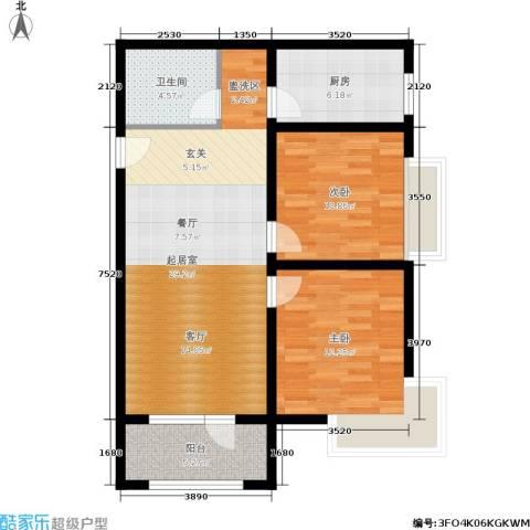 K2京西狮子城2室0厅1卫1厨79.00㎡户型图