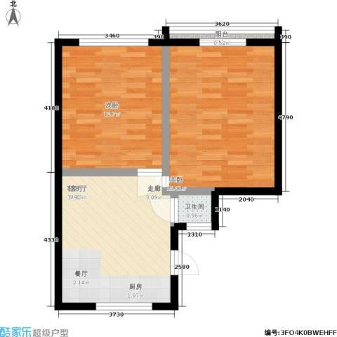 平安居2室1厅1卫0厨50.00㎡户型图