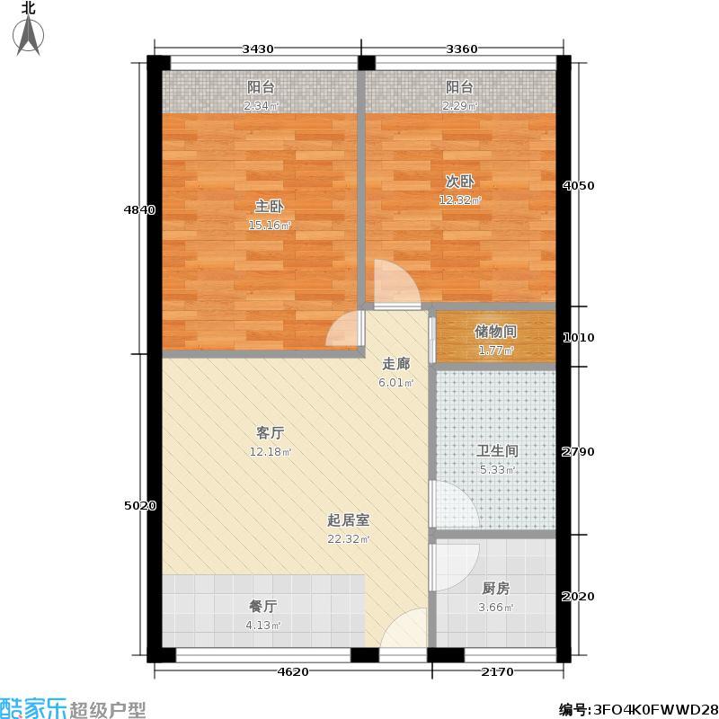耀江福村67.00㎡面积6700m户型