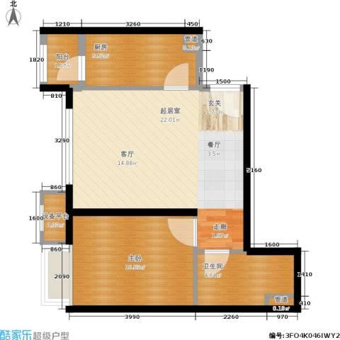 首开璞瑅1室0厅1卫1厨65.00㎡户型图