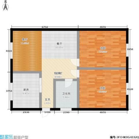 京惠花园2室1厅1卫1厨94.00㎡户型图