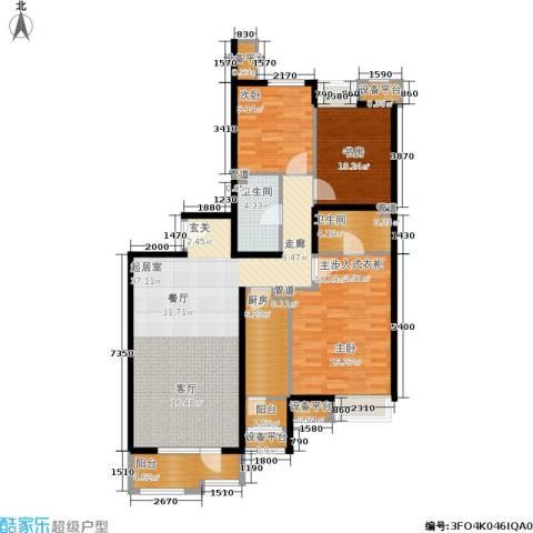 首开璞瑅3室0厅2卫1厨140.00㎡户型图