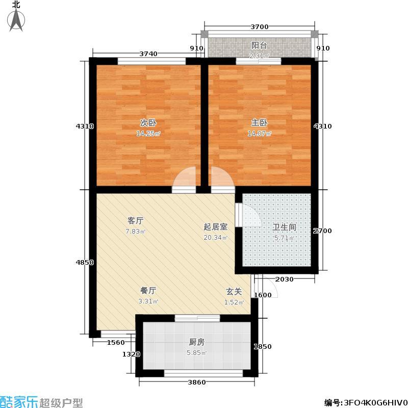 金厦公寓72.00㎡面积7200m户型
