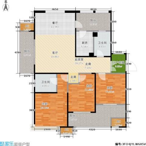 星雨华府3室0厅2卫1厨138.00㎡户型图