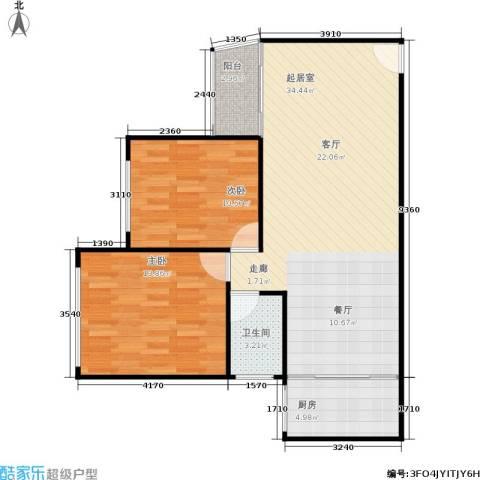 湖畔花园2室0厅1卫1厨94.00㎡户型图