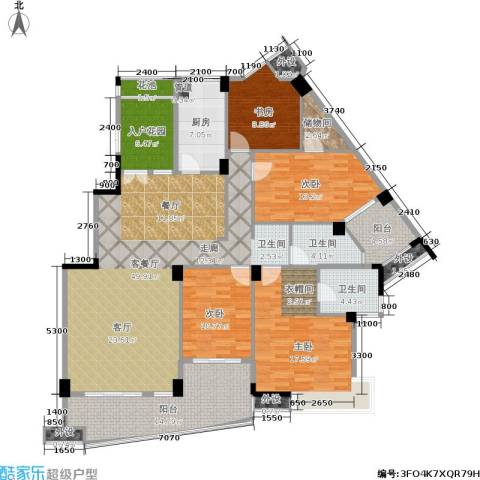 西山汇景4室1厅2卫1厨170.00㎡户型图