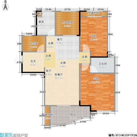 公园世家2室1厅2卫1厨114.00㎡户型图