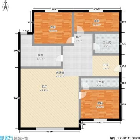 首开智慧社3室0厅2卫1厨134.05㎡户型图