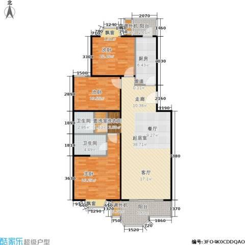 星星港湾云溪居3室0厅2卫1厨141.00㎡户型图