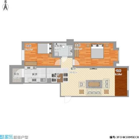 远大中央公园2室1厅1卫1厨113.00㎡户型图