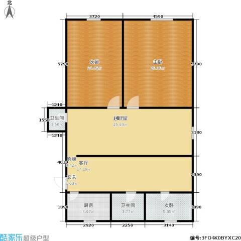 施家桥3室0厅2卫1厨112.00㎡户型图