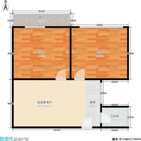 豆腐巷2室0厅1卫0厨65.00㎡户型图