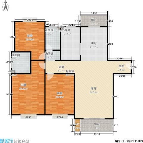 金桥花园3室0厅2卫1厨160.00㎡户型图