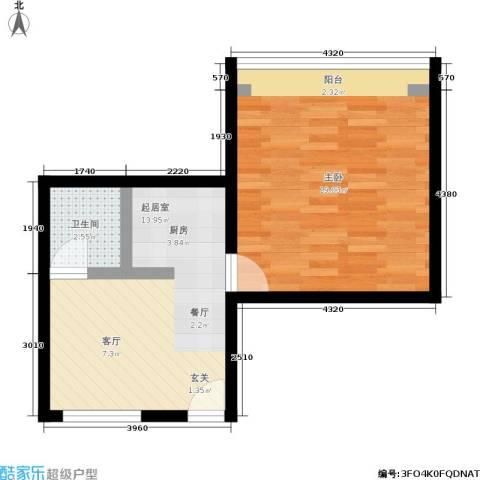 景芳五区1室0厅1卫0厨41.00㎡户型图