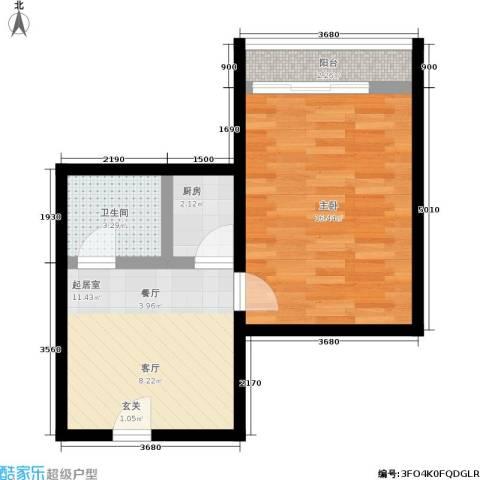 景芳五区1室0厅1卫1厨42.00㎡户型图