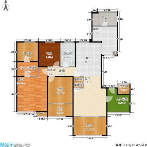 星雨华府3室0厅2卫1厨160.00㎡户型图