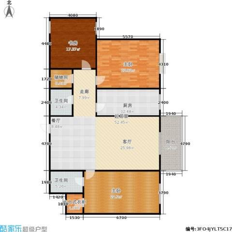 金桥花园3室0厅2卫1厨162.00㎡户型图