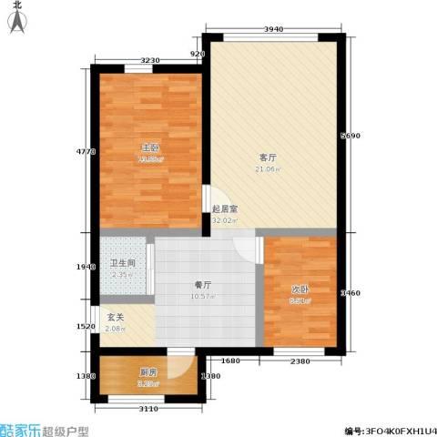 孩儿巷2室0厅1卫1厨67.00㎡户型图