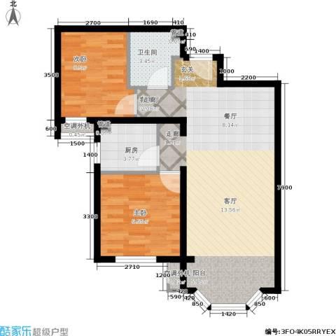 首创·伊林郡2室1厅1卫1厨80.00㎡户型图