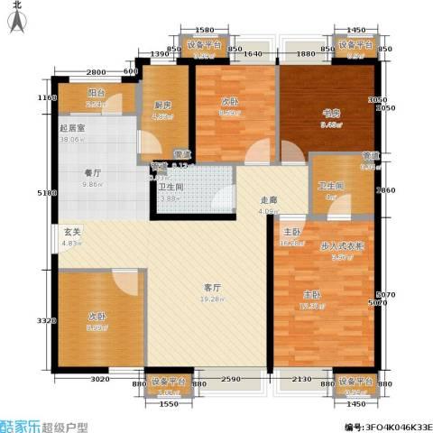 首开璞瑅4室0厅2卫1厨142.00㎡户型图