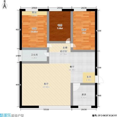 孩儿巷3室0厅1卫1厨85.00㎡户型图