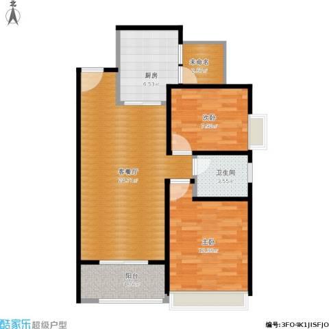 月珑湾2室1厅1卫1厨87.00㎡户型图