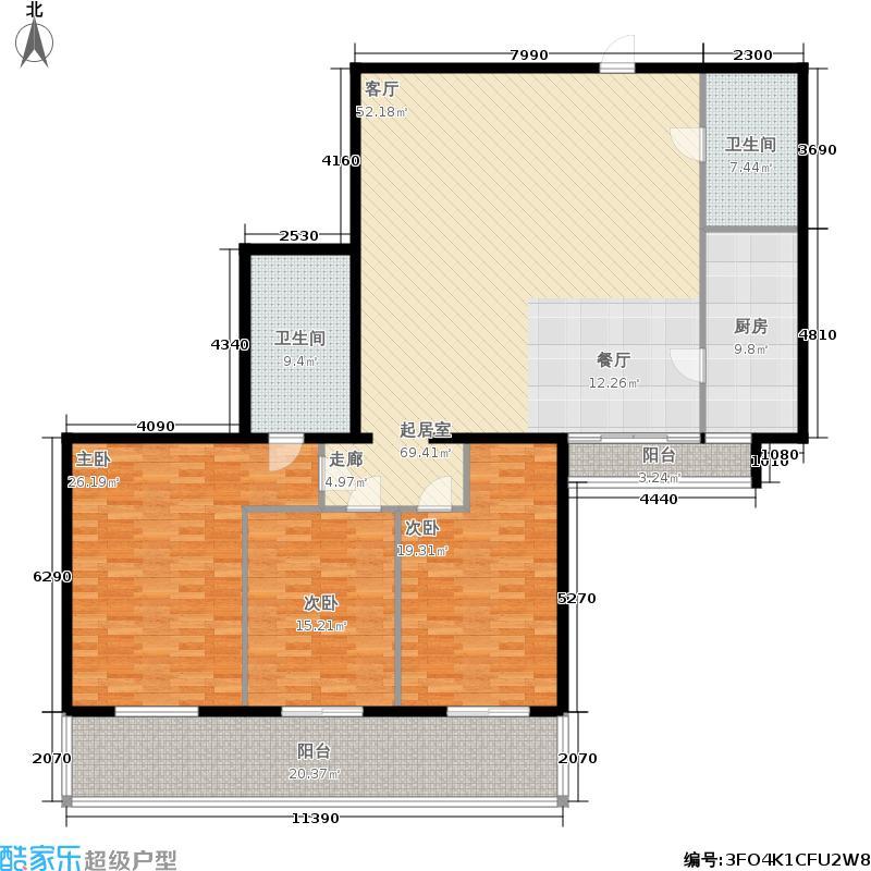 US联邦公寓198.00㎡面积19800m户型
