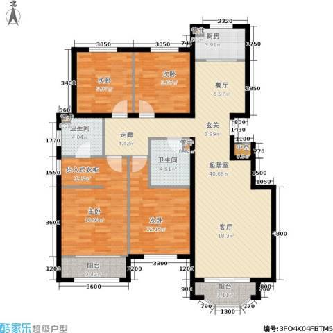通泰·香滨城4室0厅2卫1厨143.00㎡户型图