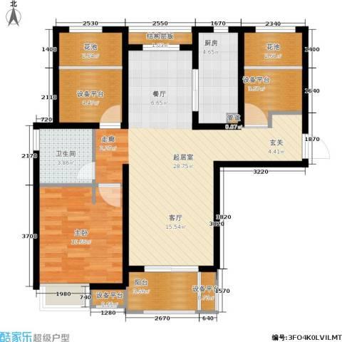 万科金色城市1室0厅1卫1厨79.00㎡户型图