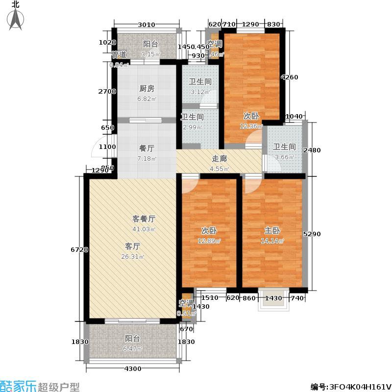 韩建雅苑121.86㎡三期E1户型