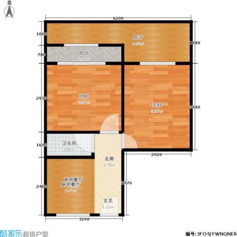 采荷芙蓉2室0厅1卫0厨43.00㎡户型图