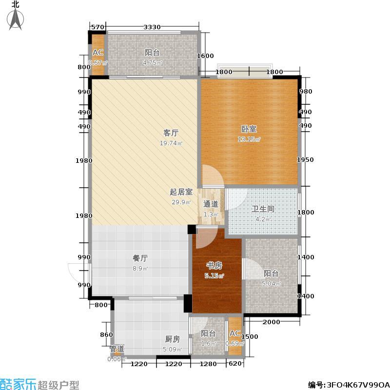 莱茵湖畔莱茵湖畔户型图C2三单元02号房82平米(2/27张)户型10室
