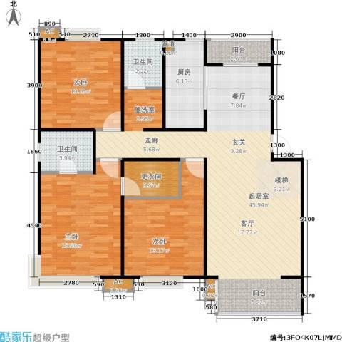 华侨绿洲3室0厅2卫1厨109.29㎡户型图