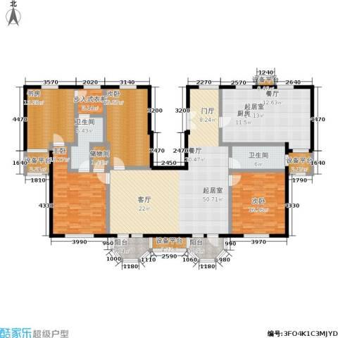中海城圣朝菲4室0厅2卫0厨239.00㎡户型图
