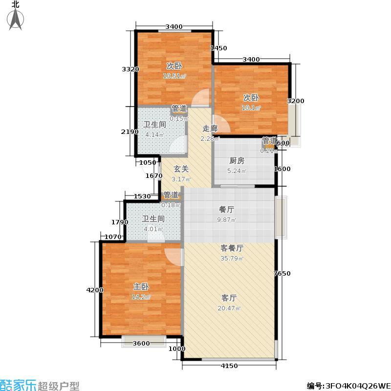 合景映月台112.00㎡一期2#楼1单元B13室户型