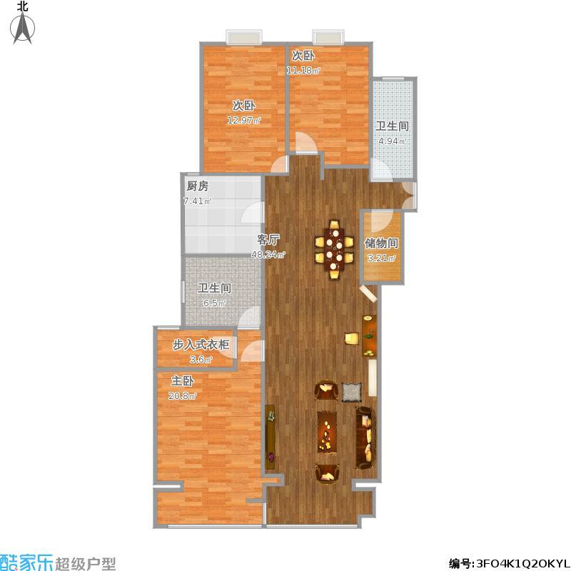 三室两厅两卫174平