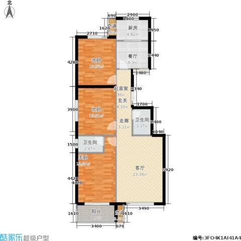 馨园丽景3室1厅2卫1厨133.00㎡户型图