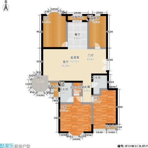 中海城圣朝菲3室0厅2卫1厨176.00㎡户型图