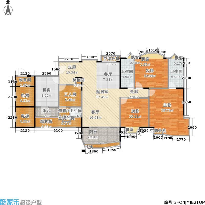 东海花园144.00㎡9座二层03、07户面积14400m户型