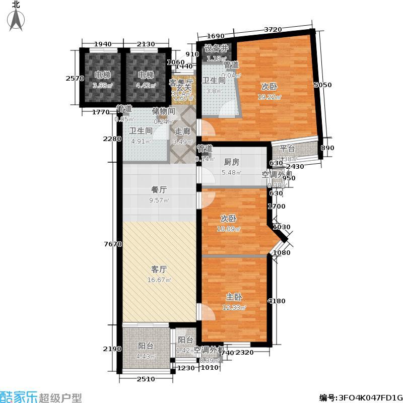 上地佳园125.22㎡1-3号楼02面积12522m户型