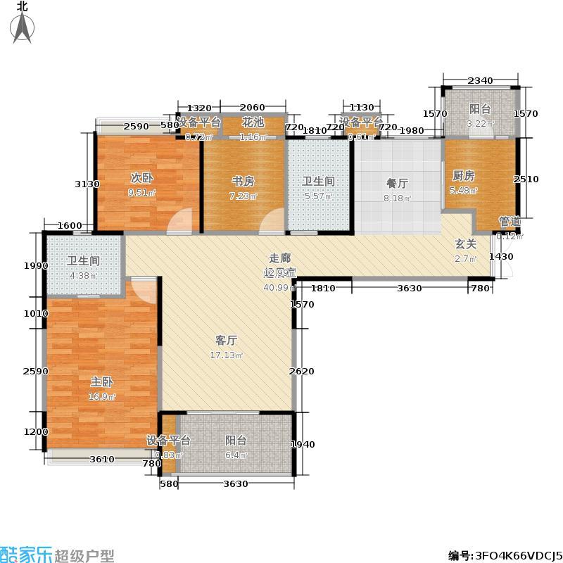 复地雍湖湾126.00㎡复地雍湖湾户型图(2/4张)户型3室2厅1卫
