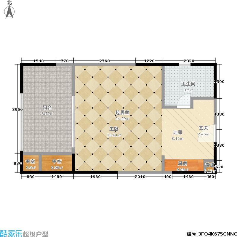 复地雍湖湾复地雍湖湾户型图2011年1月在售户型-一期4批次32号楼G4户型-47平米(1/3张)户型10室
