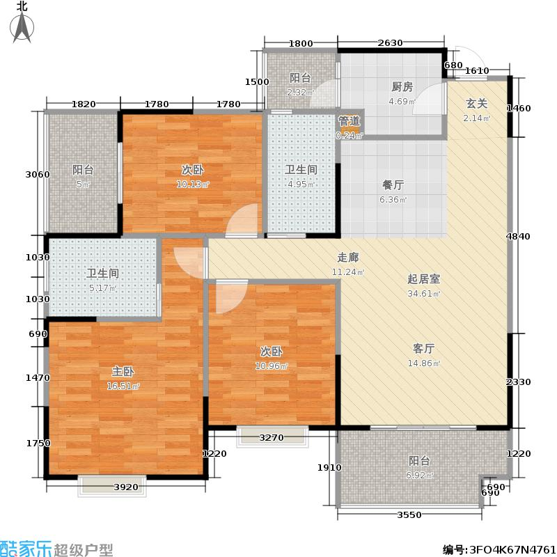 慕和南道111.15㎡慕和南道户型图偶数层(1/51张)户型2室2厅1卫
