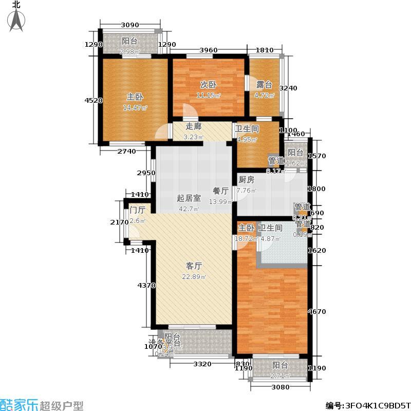 万科青青家园143.51㎡D2面积14351m户型