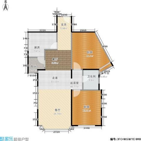 绿洲紫荆花园1卫1厨89.00㎡户型图