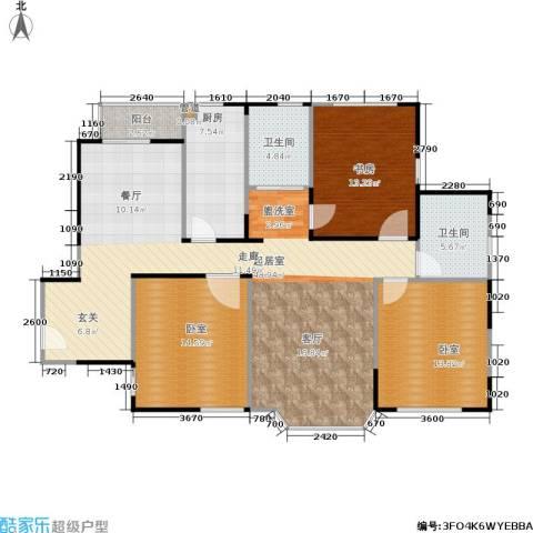 绿洲紫荆花园1室0厅2卫1厨120.00㎡户型图